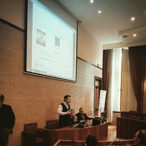 Karim Varini, founder di Timerepublik durante la conferenza stampa