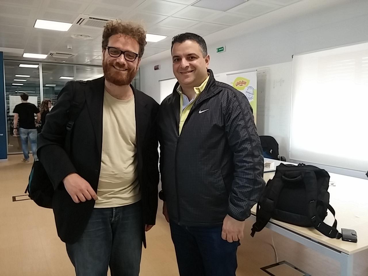 Io e Hans Shakur al termine dell'intervista nei locali del Wcap di Catania