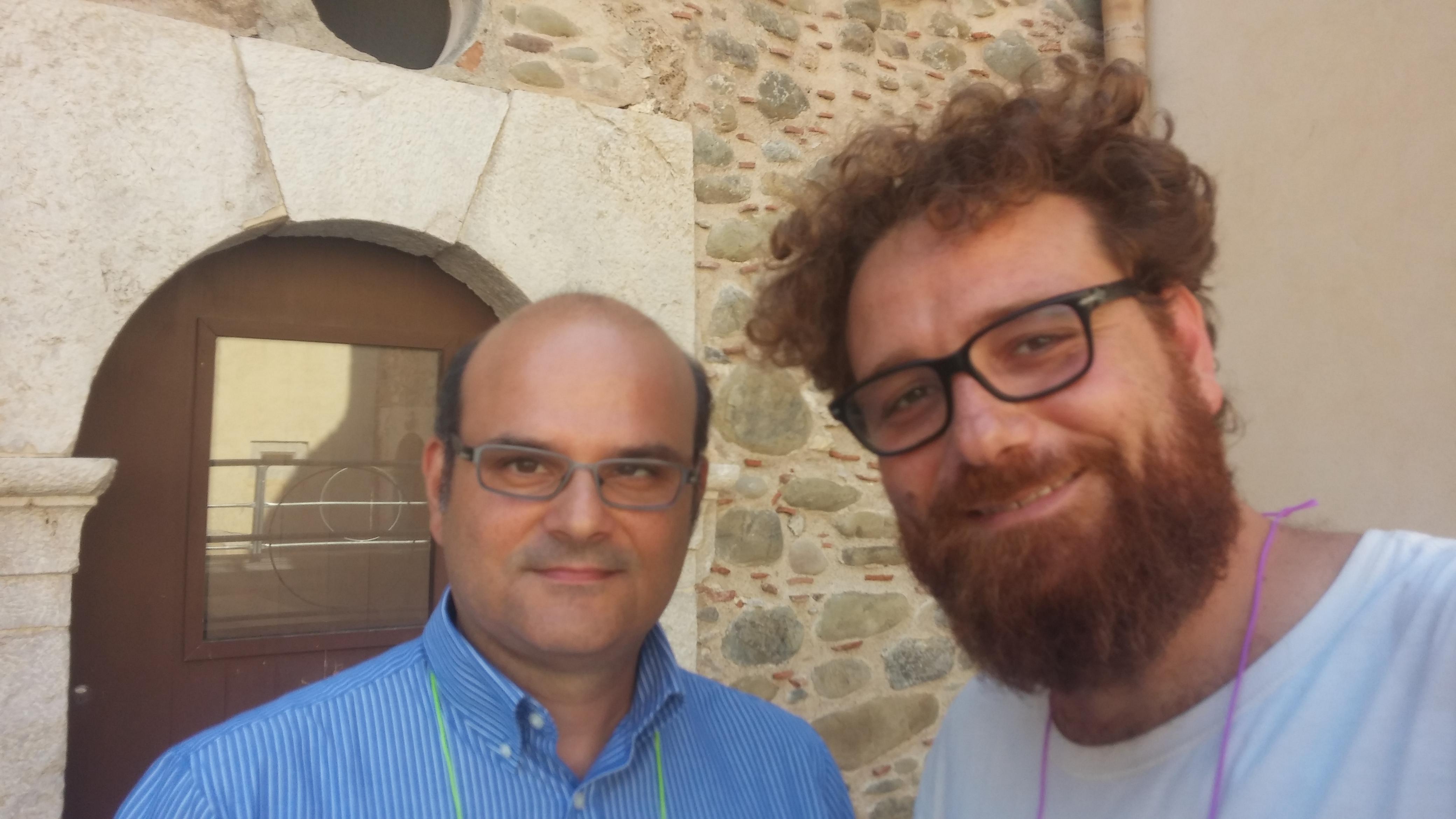 Fabio con Tiziano LoGiudice di Olomedia