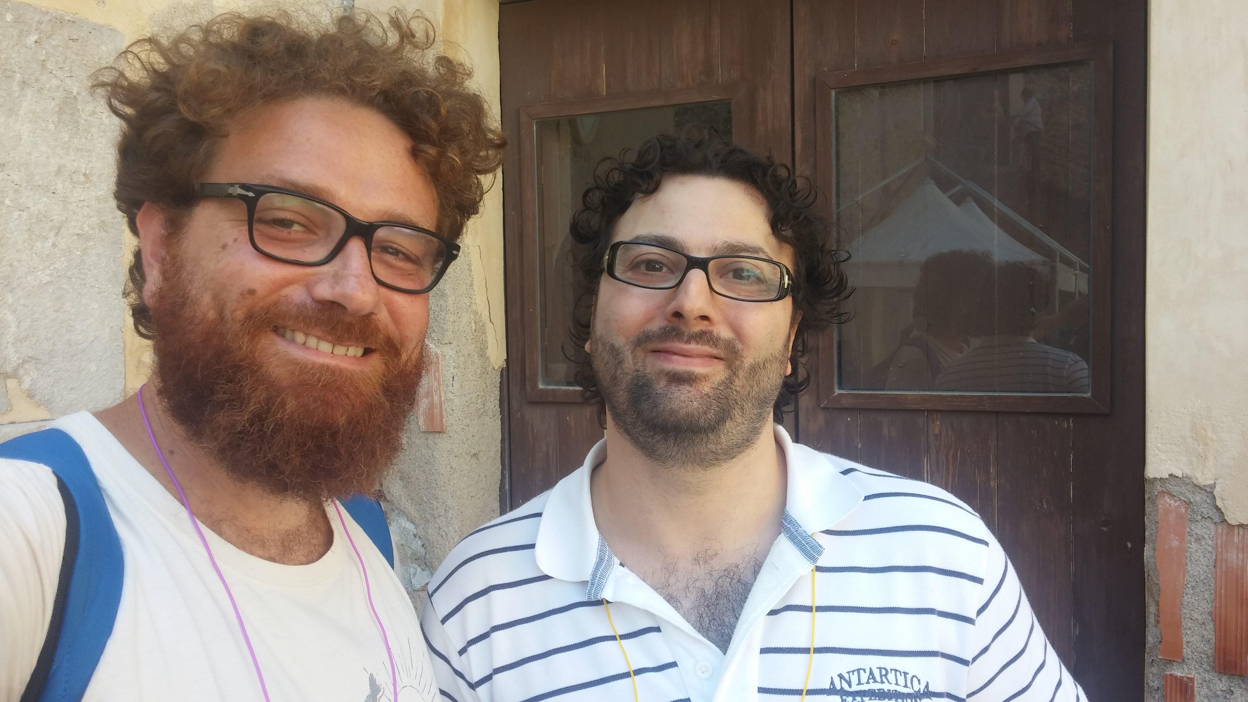 Fabio con Edoardo Ullo de ilvideogioco.com