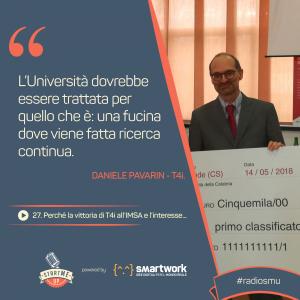 La citazione di Daniele su Università e New Space Economy