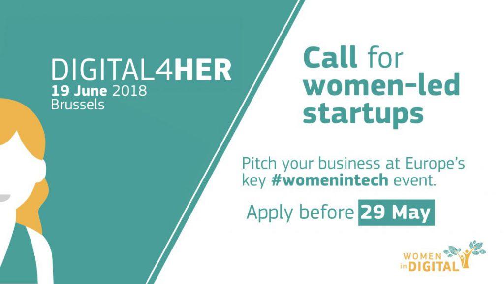 La call di digital4her per startup donne