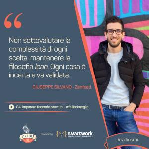 la citazione di Giuseppe sul fatto di imparare facendo startup