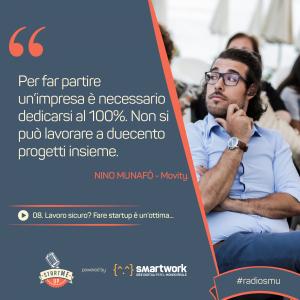 la citazione di Nino di Movity su startup e lavoro