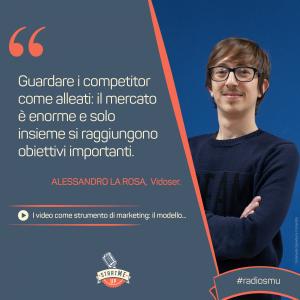 la citazione di Alessandro di vidoser sul marketing dei video