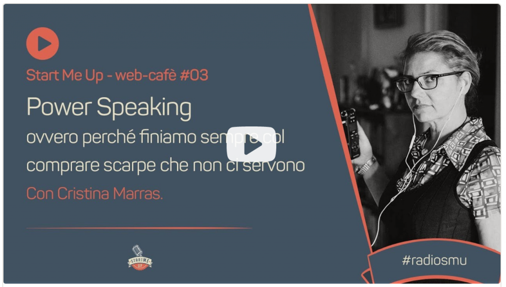 Link al video del webcafe sul public speaking
