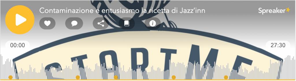Il player del terzo podcast speciale dedicato a jazzinn