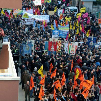 manifestazione di Foggia gennaio 2020