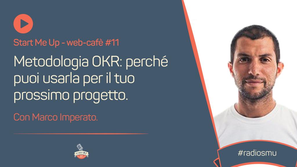 Copertina del web café su metodologia OKR con Marco Imperato
