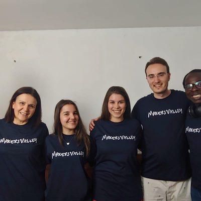 Il team di Makers Valley, la startup che mette insieme artigiani e creativi