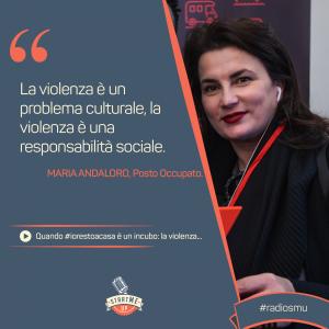 La citazione di Maria di Posto Occupato sulla violenza sulle donne