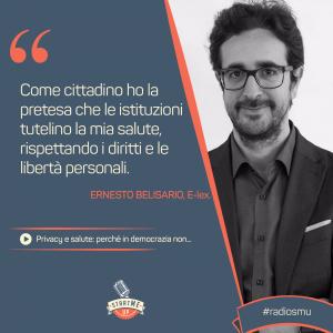 La citazione di Ernesto Belisario su privacy, salute in democrazia