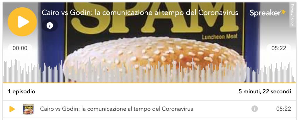 Spam tutto grasso che cola - podcast copertina: oggi si parla di social network