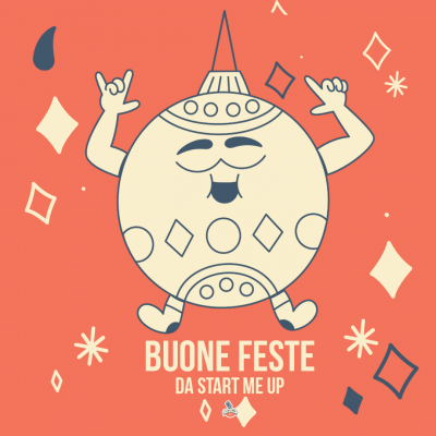 Cartolina auguri Natale 2020 Start Me Up