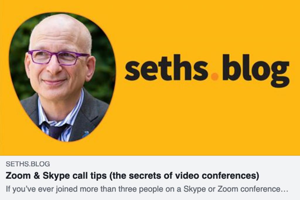 Seth Godin Blog Public Speaking