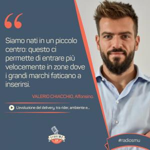 la dichiarazione di Valerio di Socialfood su Delivery