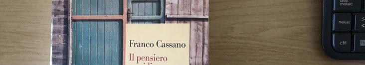Il Pensiero Meridiano - Franco Cassano (copertina)