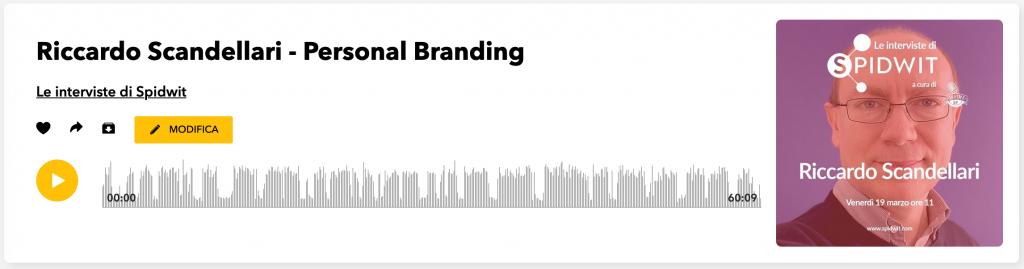 Riccardo Scandellari in podcast