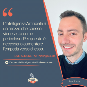 Livio Ascione di The thinking clouds su intelligenza artificiale- bravo innovation hub