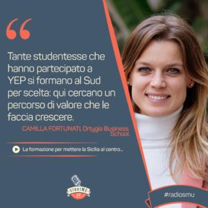 La citazione su formazione in Sicilia di Camilla di Ortygia Business School