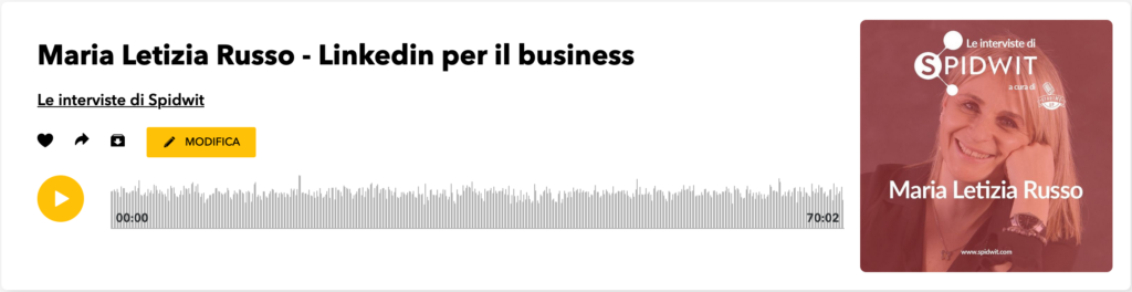 L'intervista a Maria Letizia Russo su Linkedin per il business in podcast