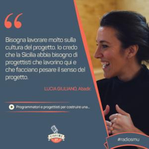 La citazione di Lucia di Abadir sulla formazione in Sicilia