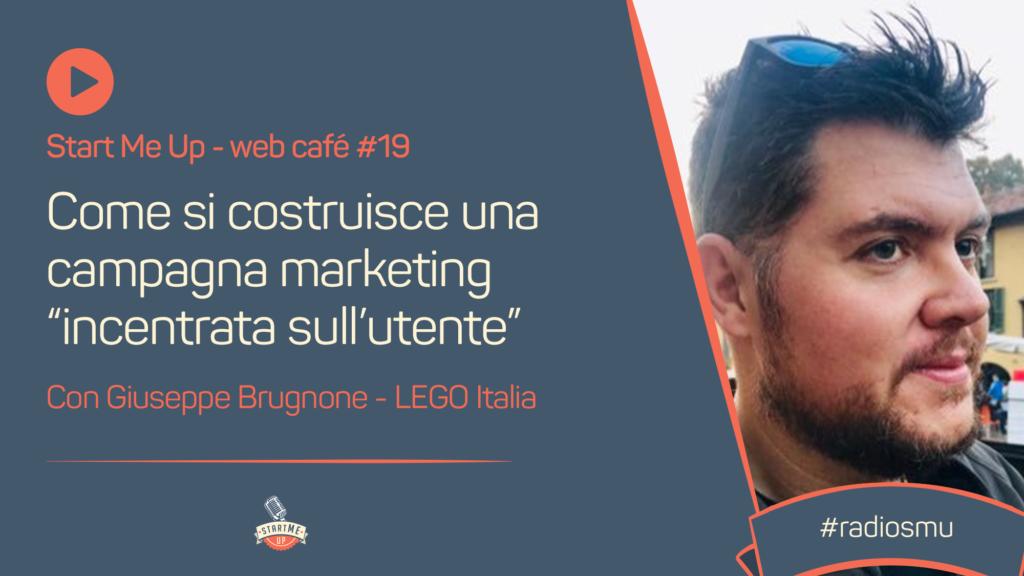 """Copertina del web café con Giuseppe Brugnone Come si costruisce una campagna marketing """"incentrata sull'utente"""""""