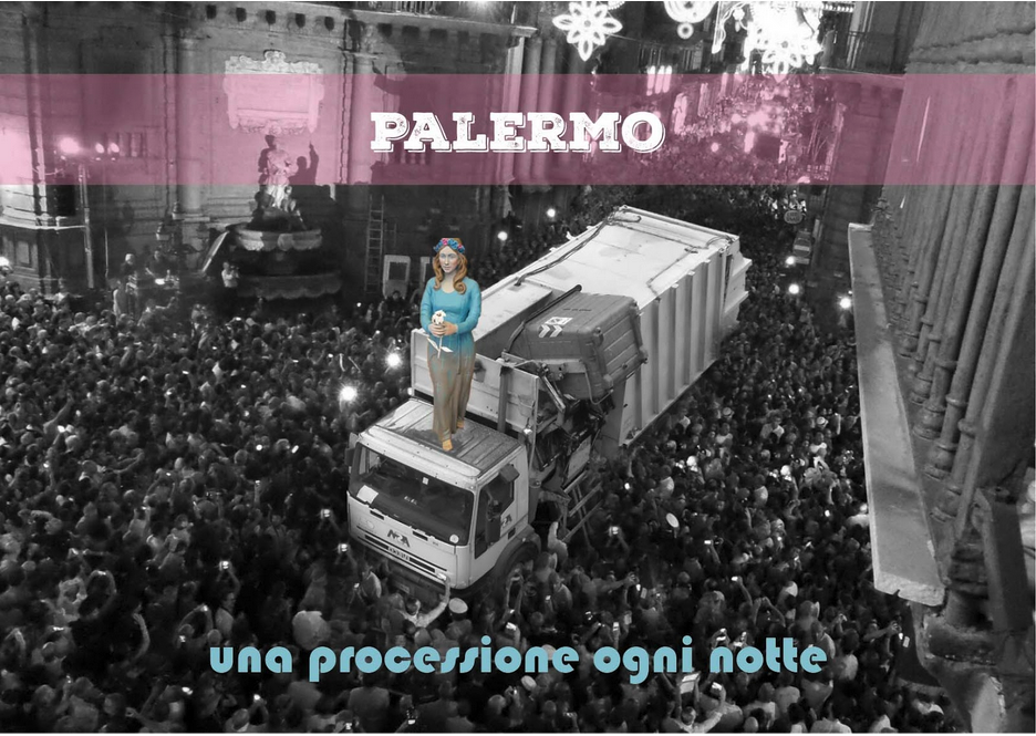 Img. 3 Palermo, una processione ogni notte. (autrice Fabiola Moscato)