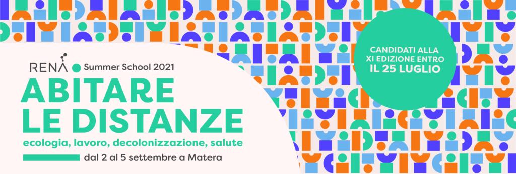 Rena Summer School 21 - Cinque eventi al Sud Italia nel segno della ripartenza